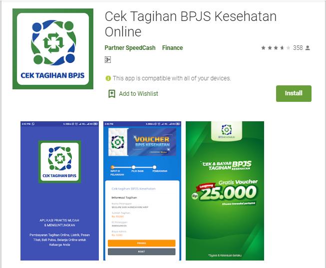 cek tagihan bpjs via aplikasi