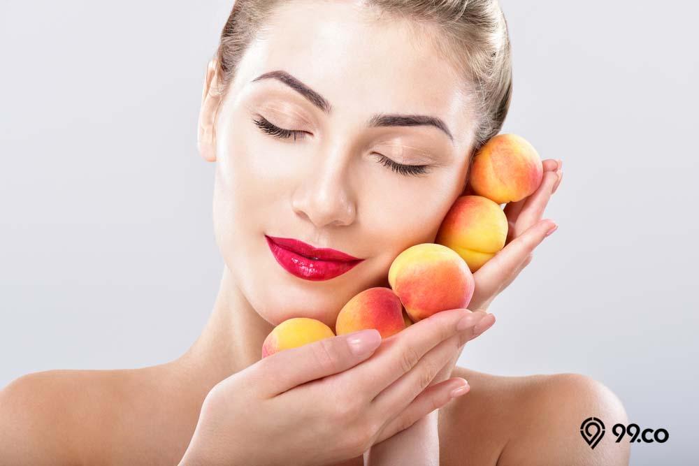 buah aprikot untuk kecantikan