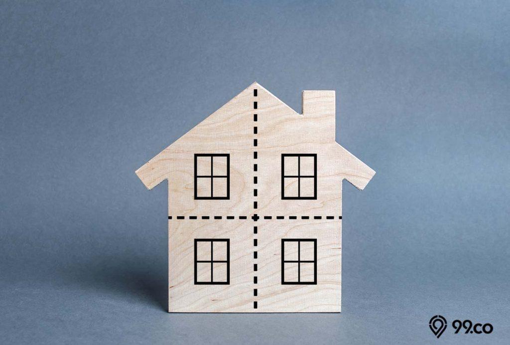 desain rumah dengan ruang terpisah