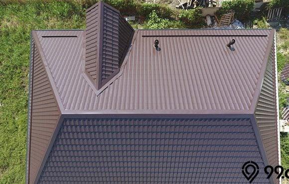 desain atap limas
