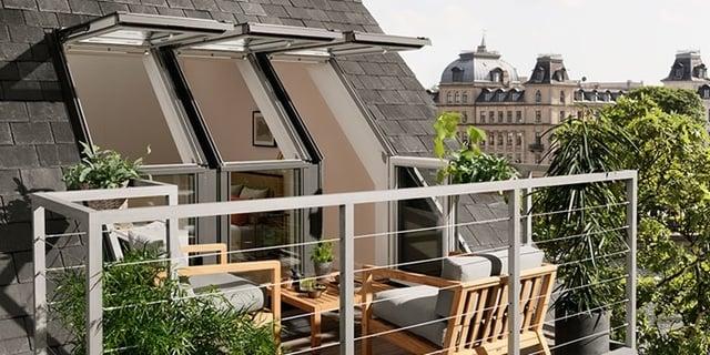 balkon minimalis rooftop railing besi