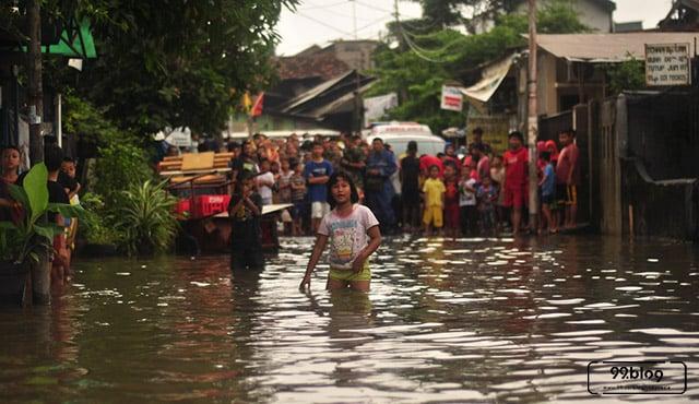 banjir terparah di jakarta
