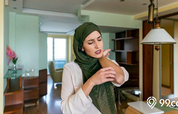 bedak gatal wanita hijab