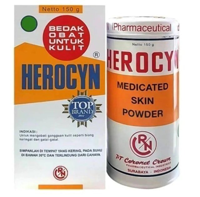 bedak gatal herocyn kaleng