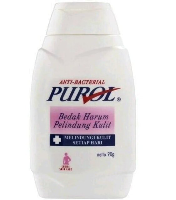 bedak gatal purol putih