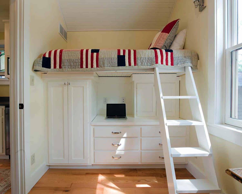 desain kamar tidur kecil dengan rangka tingkat