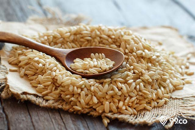 beras cokelat untuk menu diet