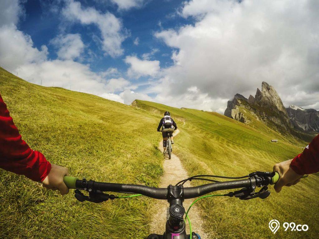 manfaat bersepeda untuk hilangkan stres