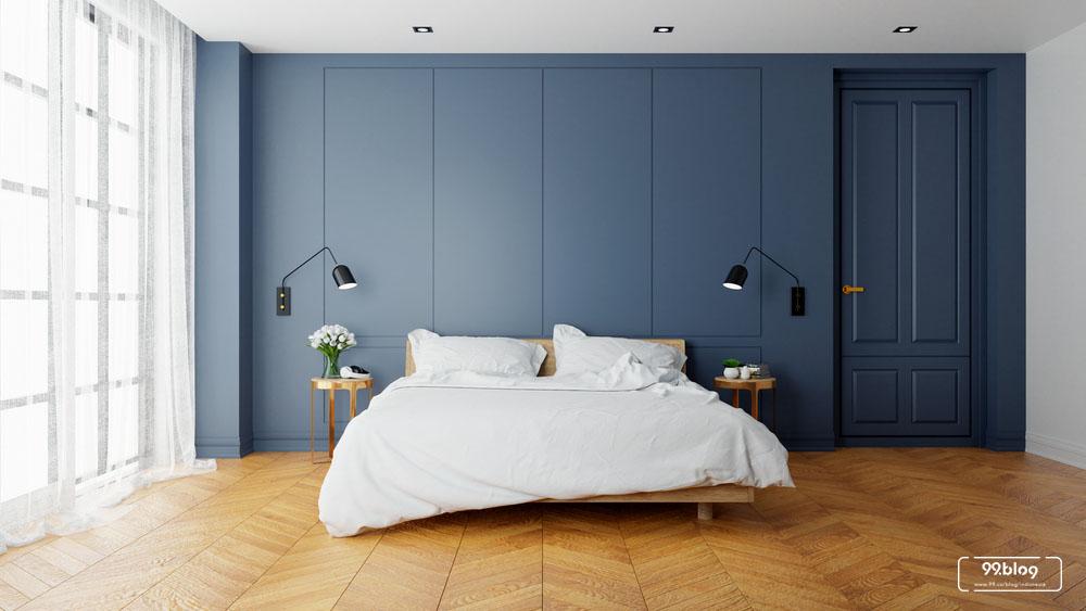 warna cat kamar tidur biru