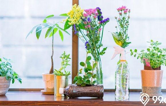 bunga hiasan rumah