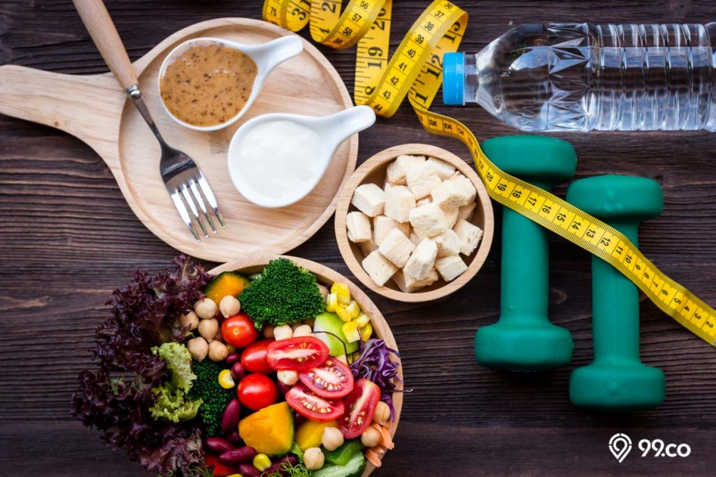 diet kurangi lemak perut