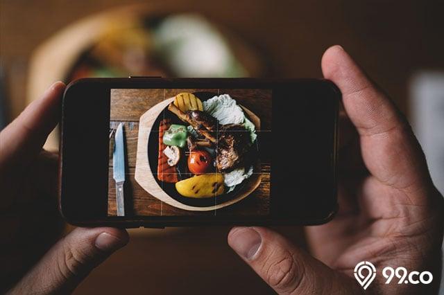 cara foto makanan