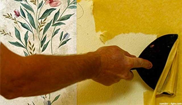 cara melepas wallpaper
