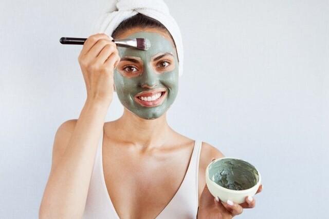 cara memakai masker spirulina