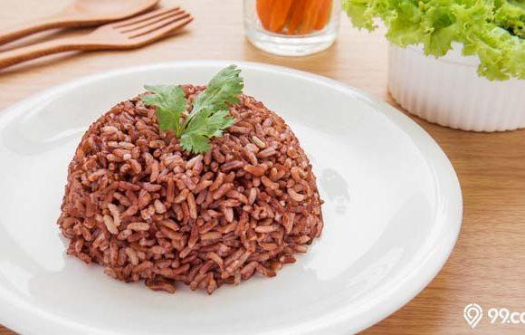 cara memasak beras merah pulen