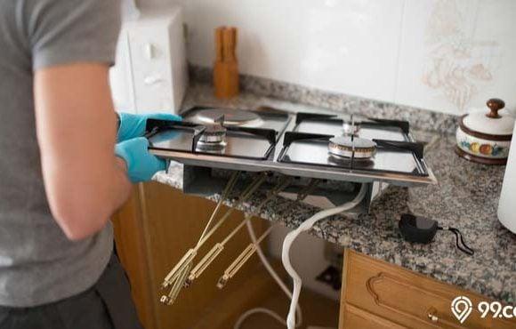 cara memasang kompor tanam