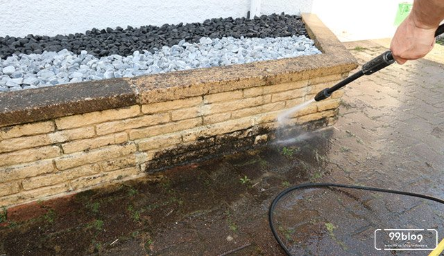 cara membersihkan batu alam