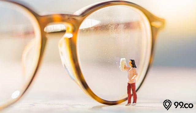 cara membersihkan kacamata dengan bahan rumahan