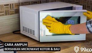 cara membersihkan microwave