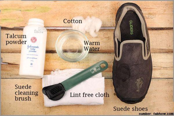 cara merawat sepatu suede