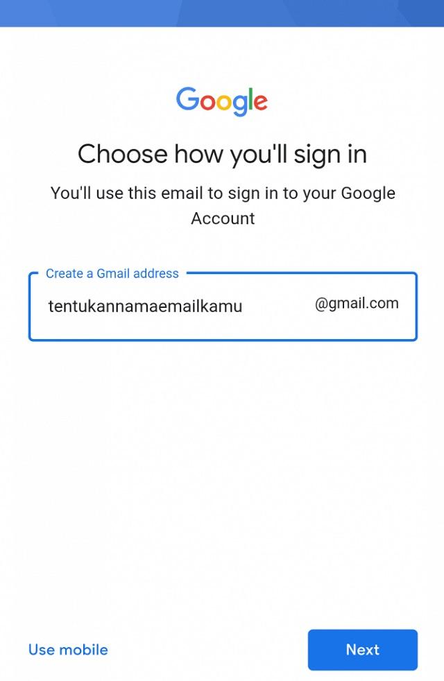 bikin email