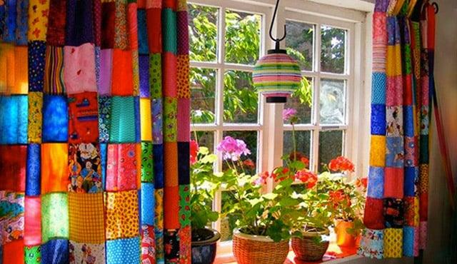 cara membuat gorden dari kain perca
