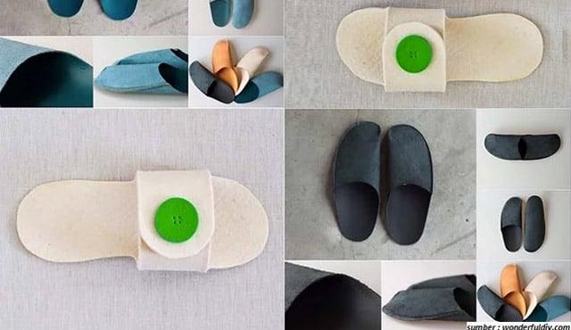 cara membuat sandal