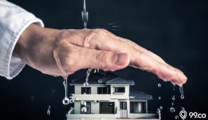 cara mencegah percikan air hujan masuk rumah