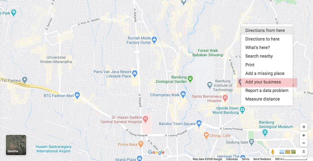 cara mendaftarkan usaha di google map