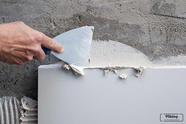 cara mengaci dinding