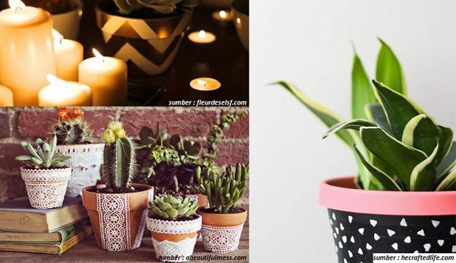 Cara Menghias Pot Bunga dengan Motif yang Keren. Contek 3 Caranya, Yuk!