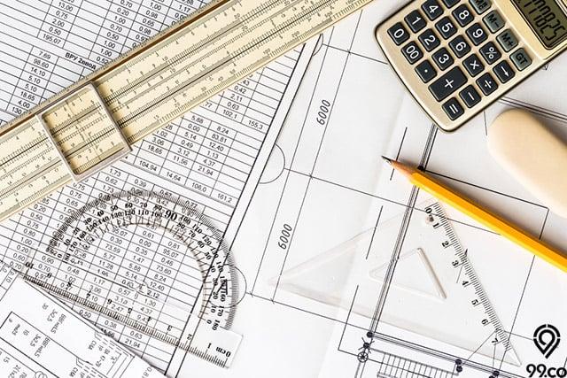 cara mengukur luas bangunan