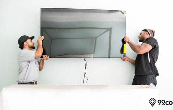 cara pasang bracket tv