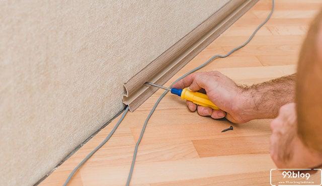 cara pasang plint lantai