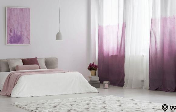 cat kamar warna lavender