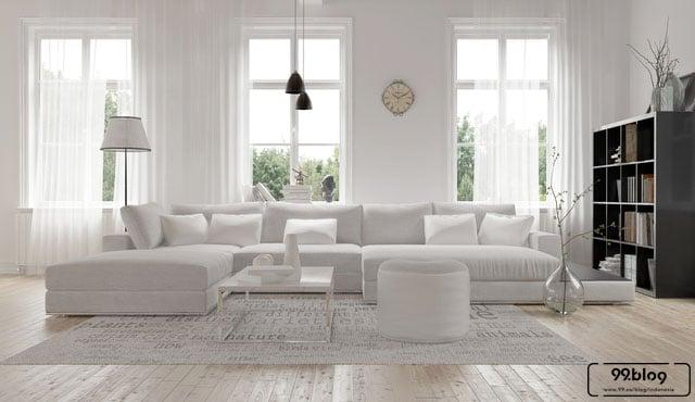 cat rumah warna putih