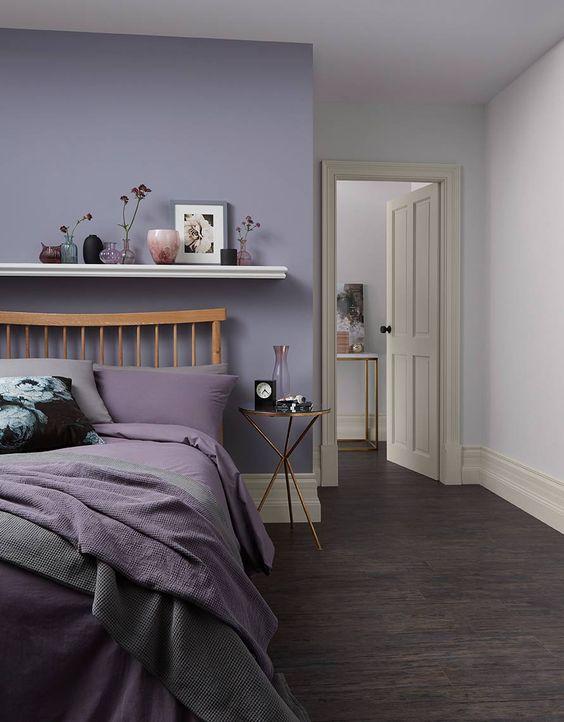 cat rumah warna ungu
