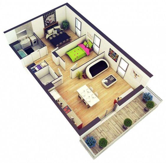 Desain Rumah Minimalis Ukuran 7x14  9 contoh denah rumah minimalis 2020 cocok untuk generasi