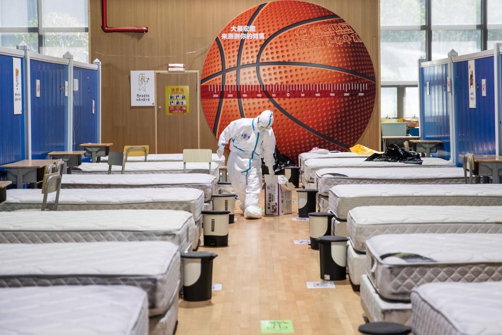 penutupan rumah sakit corona di wuhan