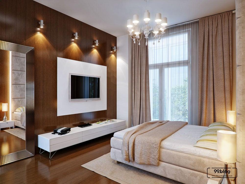 warna cat kamar tidur cokelat