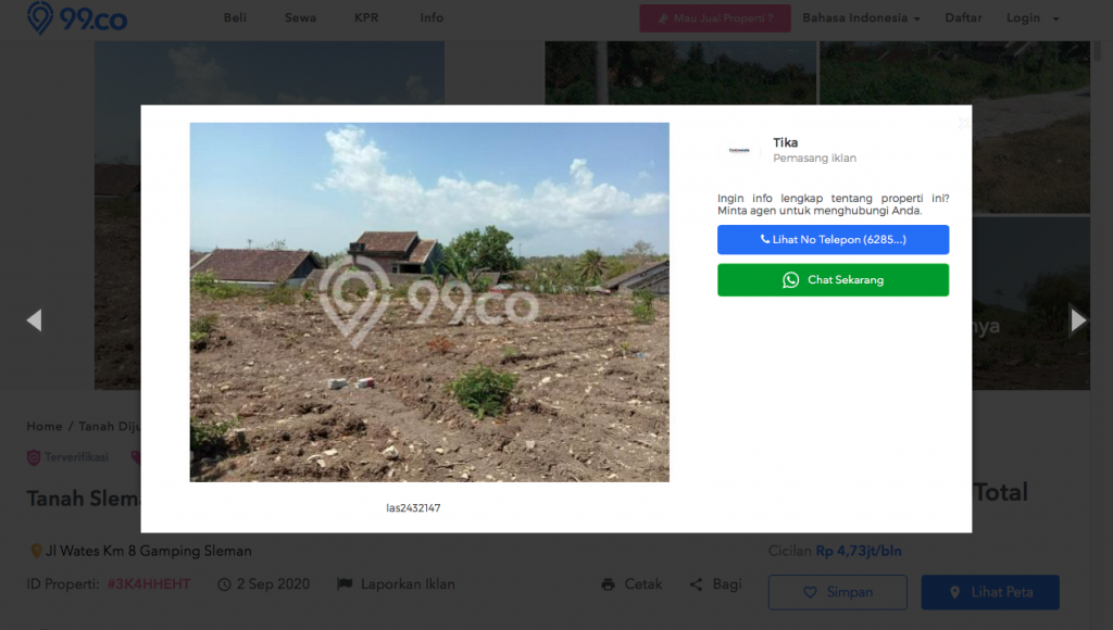 contoh gambar iklan jual tanah