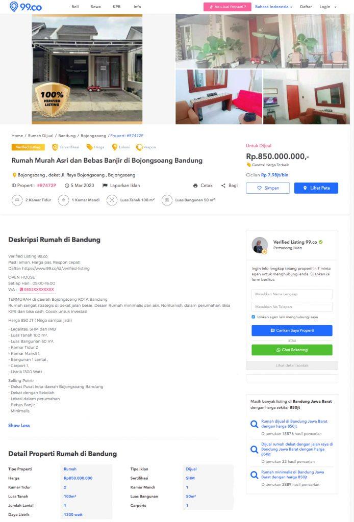 contoh iklan jual rumah