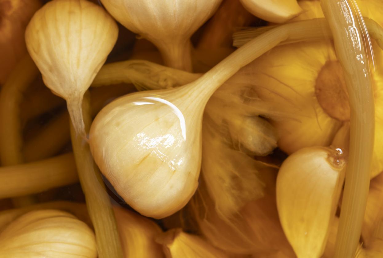 cuka dan bawang putih