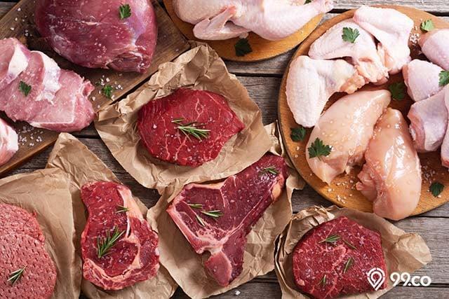 daging merah penambah berat badan