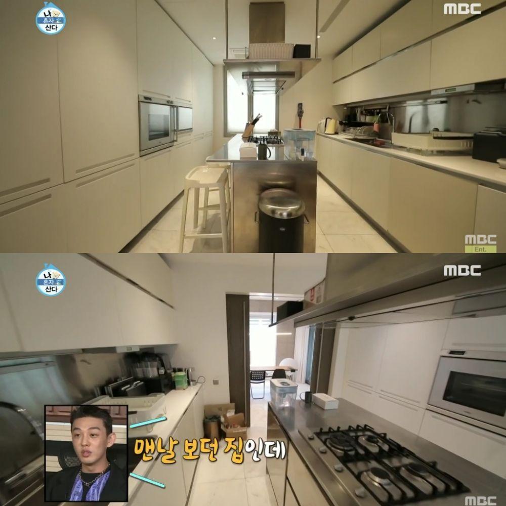 dapur modern di rumah aktor korea