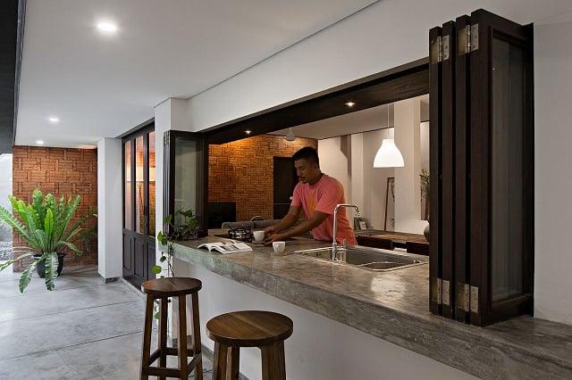 konsep ruang masak open bar
