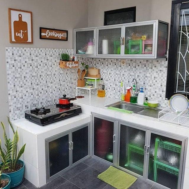 dapur dengan dekorasi
