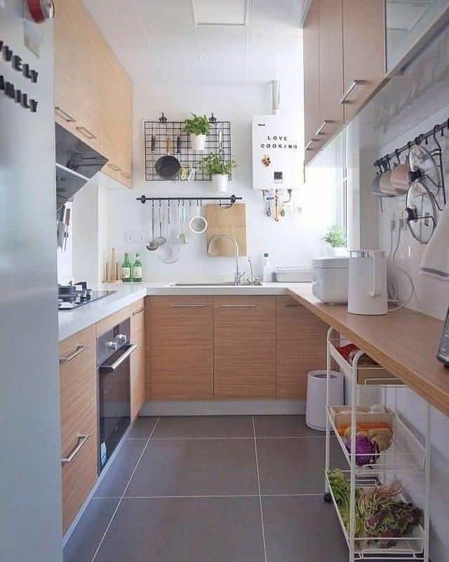 gambar dapur model memanjang
