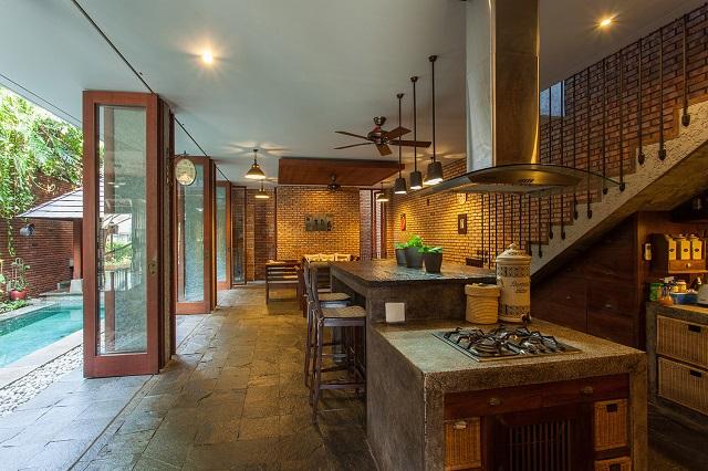 inspirasi dapur rustik semi outdoor