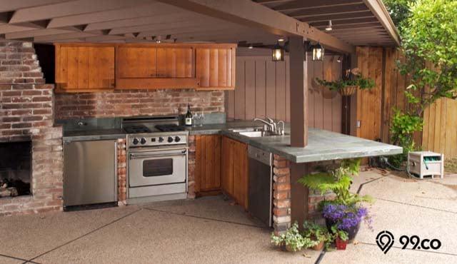 inspirasi dapur semi outdoor